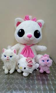 Marie cat and charmie hk sold as set stuff toys