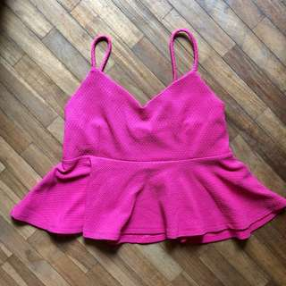 Forever21/F21 bright pink top