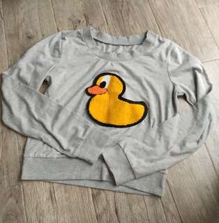 Cute Duckie Cropped Sweater
