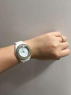 🚚 Pierre Cardin 白色陶瓷手錶