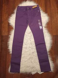 UNIQLO Purple Skinny Jeans for Girls