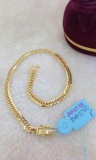 100% Authentic 18K Japan Gold Bracelet