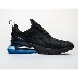 Nike Air Max 270 黑藍 氣墊 跑鞋 網面