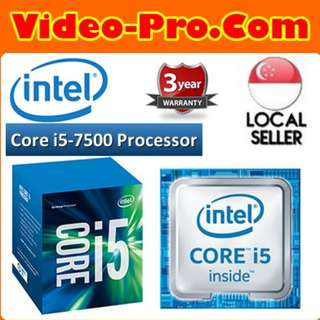 [Intel]Intel Core i5-7500 7th Gen Kaby Lake Quad-Core Processor (3.4GHz/6MB) LGA 1151 65W with Intel HD Graphics 630 BX80677I57500 3 Years Local Warranty