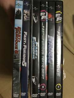 Fast and the Furious DVD set (1-6)