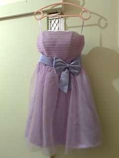 🚚 紫色短蓬裙