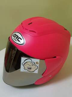 3006*** ARC RITZ Matt Pink v Chrome Visor Helmet For Sale 😁😁Thanks To All My Buyer Support 🐇🐇 Yamaha, Honda, Suzuki