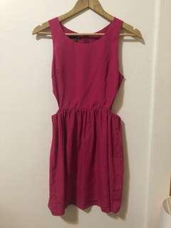 LADAKH | Fuchsia Mini dress with cut outs