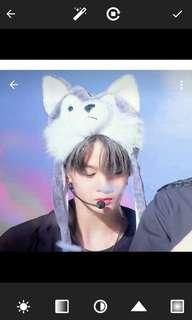 Wanna One Baejinyoung wokf cap