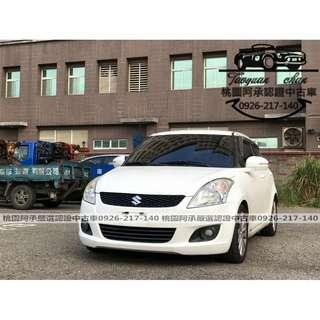 【FB搜尋桃園阿承】鈴木 超人氣SWIFT 2012年 1.4 白色 二手車 中古車
