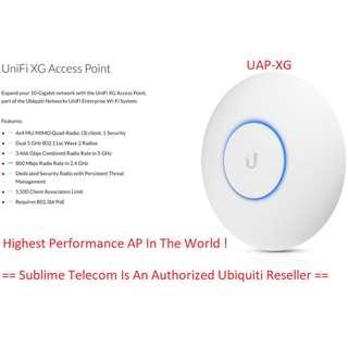 UAP-XG Ubiquiti Networks UniFi Wave 2 Quad-Radio 4 X 4 MU-MIMO 10G Access Point UBNT Singapore