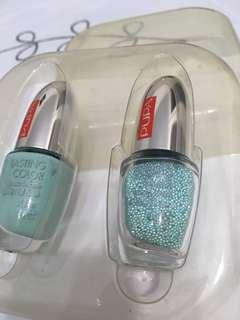 🚚 Pupa nail polish set polish and beads Aqua