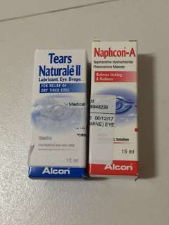 $4 each tears naturale lubricant eye drops relief of dry tired eyes itching redness 15ml