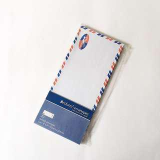 "besform 4""x9"" air mail envelopes pack"