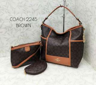 Coach 3 in 1 Handbag Brown Color