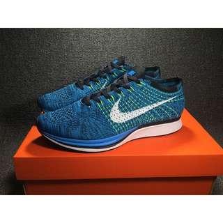 Nike Flyknit Racer 藍 編織 慢跑鞋 526628 402 男