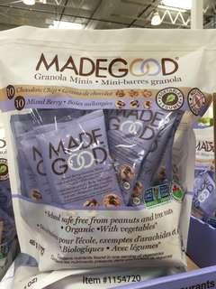 🇨🇦加拿大代購🇨🇦Made Good 有機雜莓雜錦穀物果芭 有機朱古力碎雜錦穀物波波 20包裝 480g