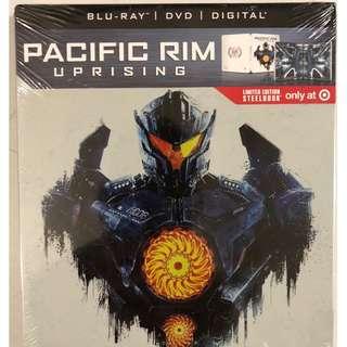 NEW PACIFIC RIM UPRISING BLU RAY DVD DIGITAL 2 DISC TARGET EXCLUSIVE STEELBOOK