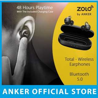 Anker Zolo Wireless Bluetooth Earbuds 48 Hour Battery Life Sweatproof 100% Authentic