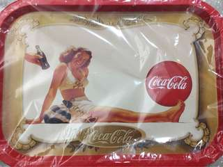 Coca-cola bikini beauty metal tray