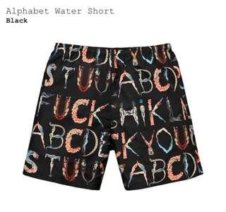 Supreme 人體字母短褲