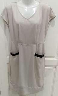 L Beige Dress
