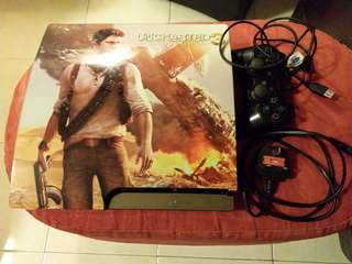 PS3 with one controller and games