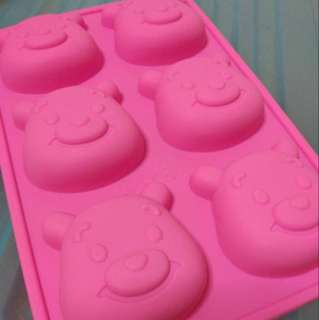 Silicon Pooh Bear non stick Cake Mould PINK