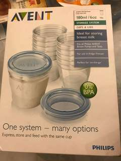 Avent Breast milk storage cups with cover