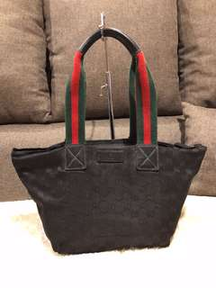 Authentic Gucci Black Medium Tote Bag With Dustbag