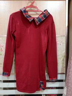 Red long top