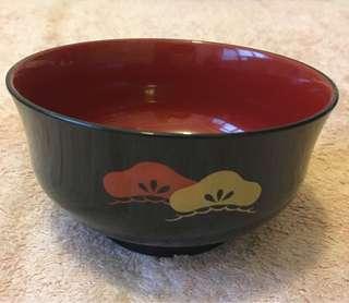 日本80年代漆器飯碗