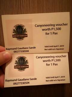 Canyoneering in Cebu voucher