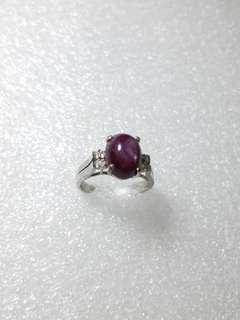 Vintage 14k Indian star ruby ring