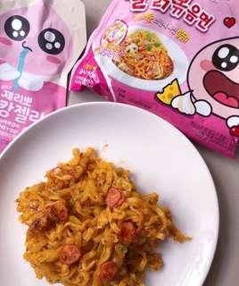 Line Friends Apeach Samyang Fire Chicken Noodles