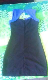 Dress blue black
