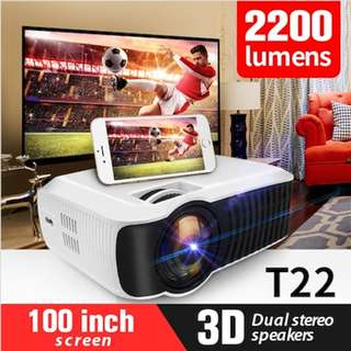 NEW!!🌟T22 🌟 WIFI PROJECTOR UC46+ 🌟 The Cheapest 1080P Portable