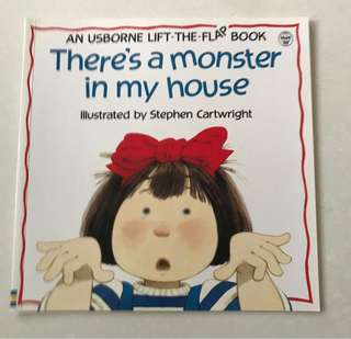 There's a monster in my house flap book