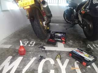 Tyre worming / tyre patching / cacing / Onsite bike repair / mobile mechanic