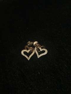 Agnes b double heart ear ring