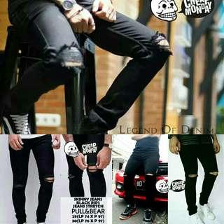 Celana Cheap monday jeans skiny ripped size 27-34 s m l xl