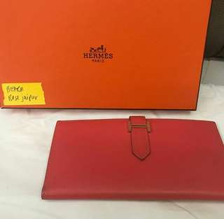 Hermes Bearn Wallet Rose Jaipur