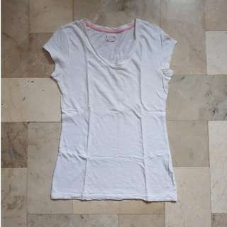 White Vneck shirt