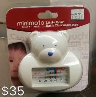 MINIMOTO 可愛小熊沐浴水溫計