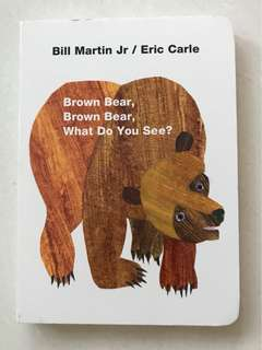 Brown bear brown bear what do you see board book