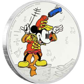 Mickey Mouse - The Band Concert 1 oz Fine Silver Coin