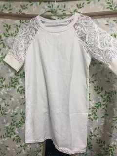 🚚 白色短洋裝