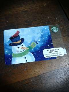 🚚 *BN* Starbucks Gift Card $10 Value Merry X'mas with Frosty Edition!