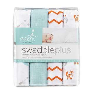 Aden and Anais Swaddleplus Muslin Blankets (4 pack)