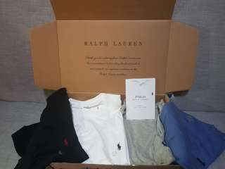 Original Ralph Lauren round neck shirts with front pocket